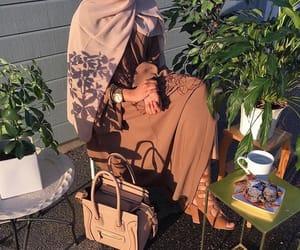 dress, abaya, and elegance image