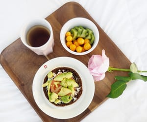 avocado, breakfast, and tea image