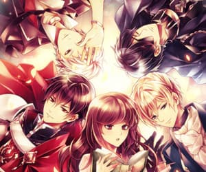 anime couple, otome game, and reverse harem image