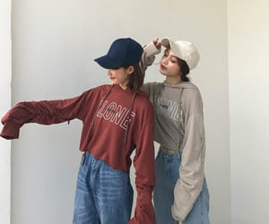 clothes, outfit, and friends image