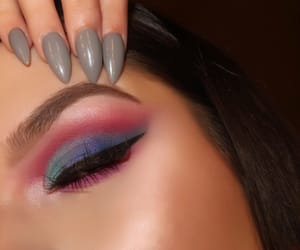 beauty, blue, and eyeliner image