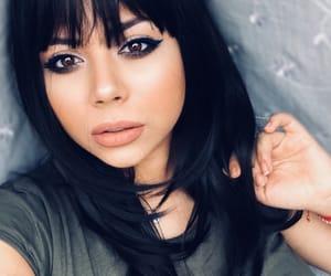 beauty, dark hair, and doll face image