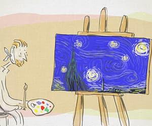 animation, stars, and art image