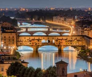 bridges, wanderlust, and florence image