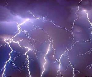 purple, sky, and lightning image