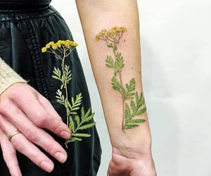 flower, green, and tatttoo image