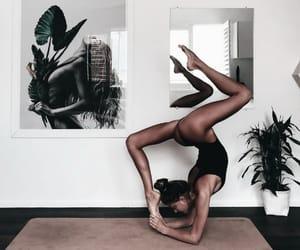 yoga, body, and girl image