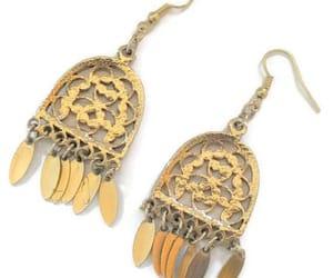etsy, chandelier earrings, and hippie earrings image