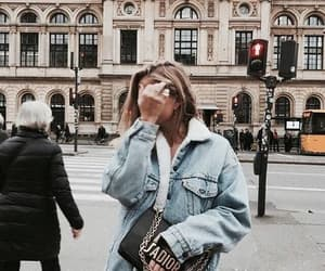 architeture, denim jacket, and street style image