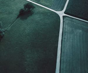crossroad, grass, and gray image