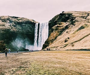 iceland and waterfall image