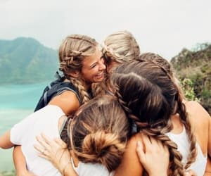 amigas, vida, and feliz image