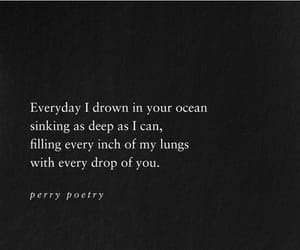 deep, drown, and ocean image