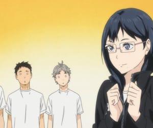 karasuno, koshi sugawara, and haikyuu image
