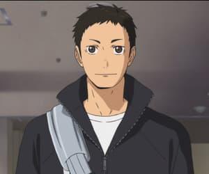 captain, daichi sawamura, and haikyuu image