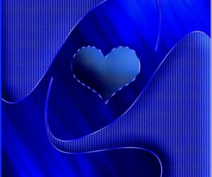blue, blue heart wallpaper, and blue love heart's image