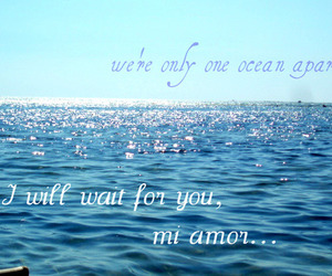 distance, sea, and typography image