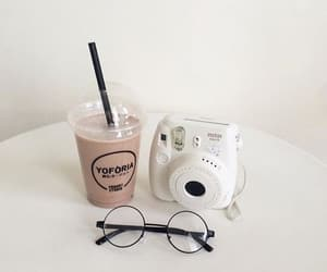 beige, camera, and drinks image