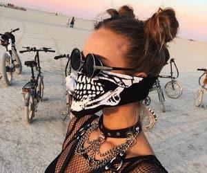 black, model, and desert image