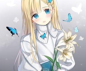 anime girl, blonde, and blue eyes image