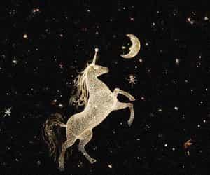 unicorn, stars, and moon image