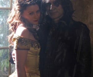 belle, once upon a time, and rumplestilskin image