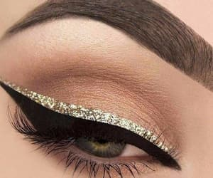 makeup, sombras, and delineado image
