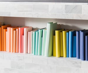 books, colorful, and decor image