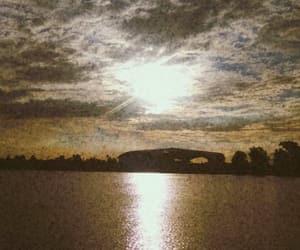 lagoon, sky, and sunshine image