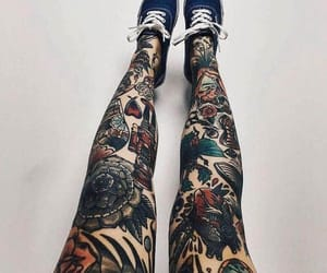 legs and tattoo image