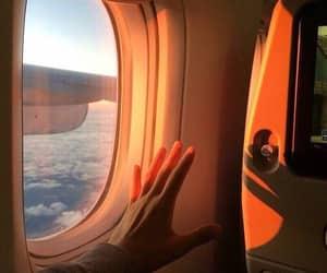 orange, sky, and sun image
