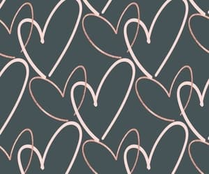 grey, hearts, and white image