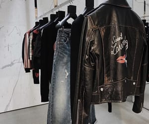 fashion, jacket, and leather image
