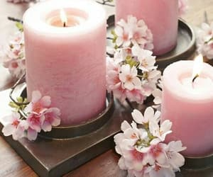candles, pink, and beauty stuff image