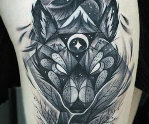 black, raven, and tattoo image