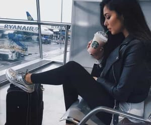 airport, coffee, and black image