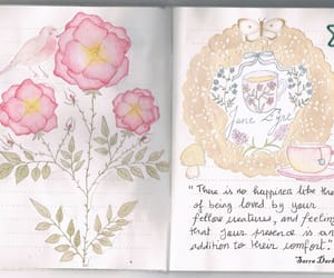flowers, jane eyre, and journal image