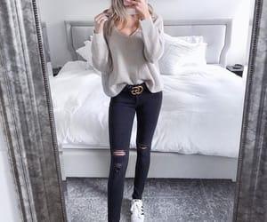 blonde, model, and vogue image