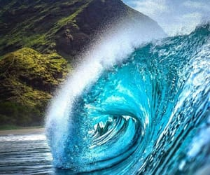 beautiful, waves, and hawaii image