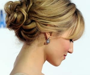 hairstyles, wedding hairstyles, and bun hairstyles image
