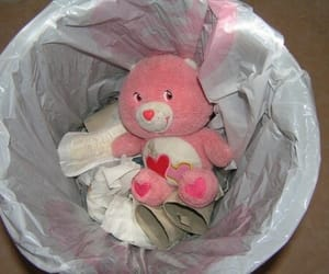 aesthetic, pink, and trash image