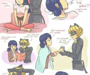 marinette, Adrien, and Chat Noir image