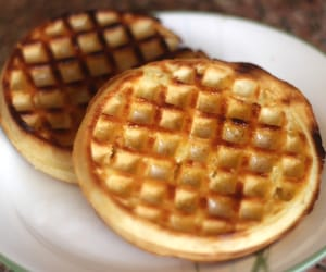 waffles, breakfast, and food image