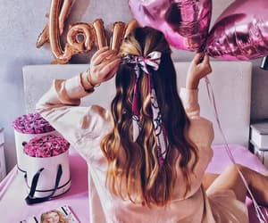aesthetic, balloons, and flowers image