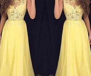 prom dress, yellow dress, and prom season image