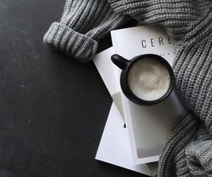 coffee, grey, and sweater image