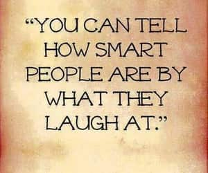 laugh, smart, and text image