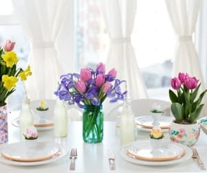 easter, paques, and table setting image