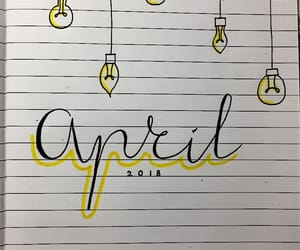 april, yellow, and doodle image