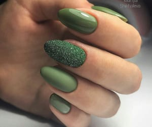 aesthetic, green, and nails image